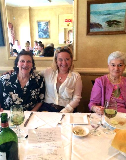 Paula Bartow, Jade Gunver and Lucille Delano enjoy a spring luncheon.